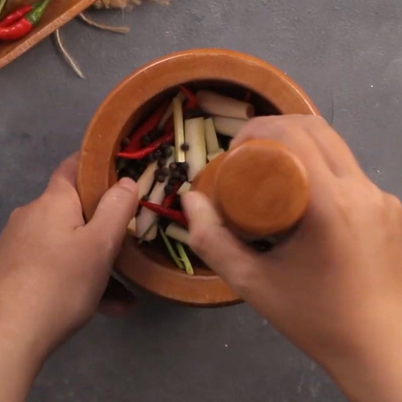 Bước 1 Làm hỗn hợp ướp Cá diêu hồng hấp kiểu Thái