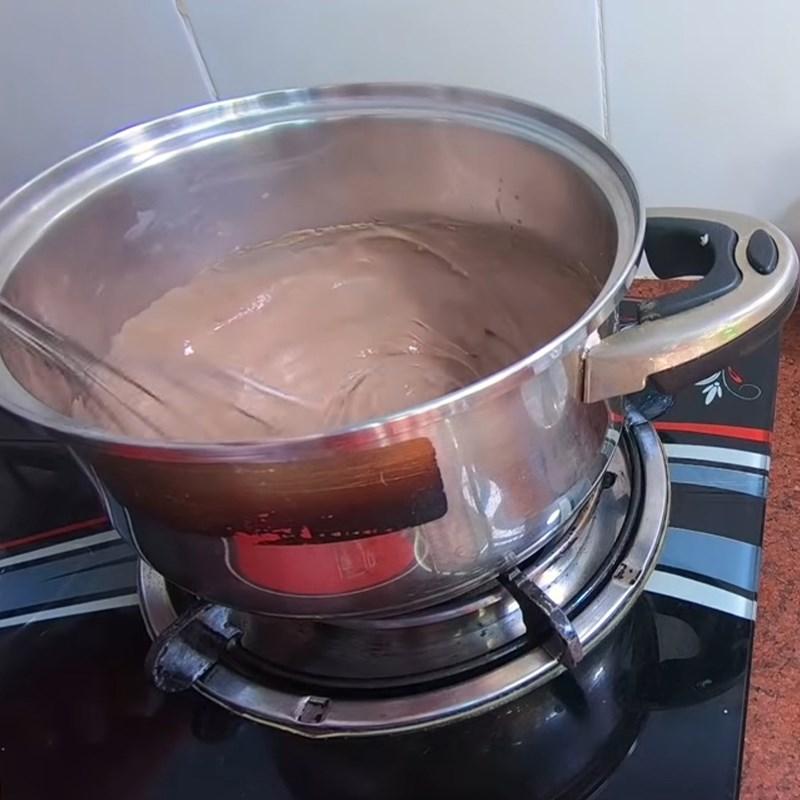 Bước 2 Làm nhân socola Bánh mì nhân kem socola