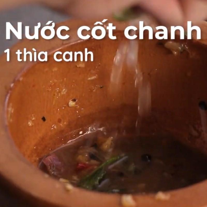 Bước 5 Làm sốt chấm Cá diêu hồng hấp kiểu Thái