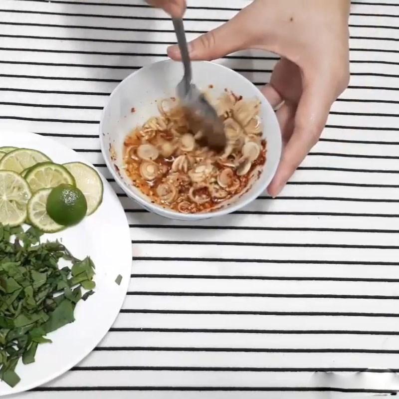 Bước 2 Làm sốt trộn Gỏi lưỡi heo chua cay