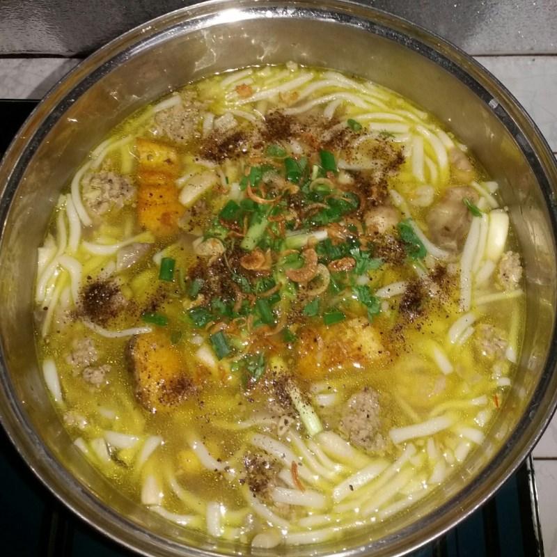 Bước 4 Nấu bánh canh Bánh canh cá lóc bột gạo
