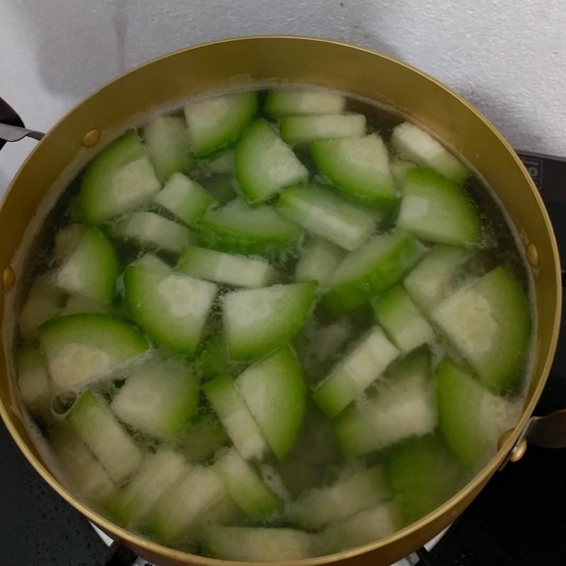 Bước 3 Nấu canh Canh bí đao nấu thịt