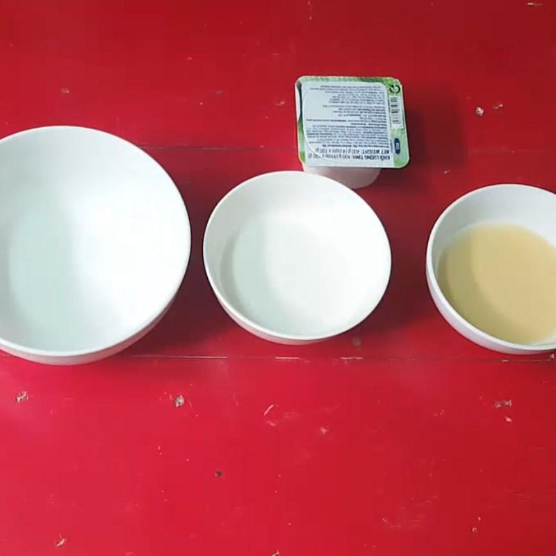 Bước 5 Nấu hỗn hợp nước cốt dừa và hoàn thành Rau câu lá dứa sữa đậu nành