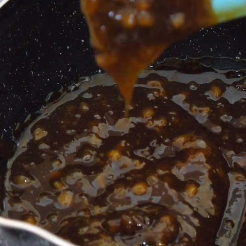Bước 1 Nấu nhân mật ong đậu phộng Bánh mì nhân mật ong bằng chảo