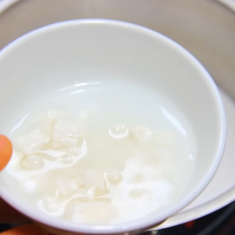 Bước 4 Nấu nước cốt dừa Rau câu đậu xanh cốt dừa