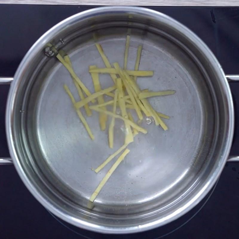 Bước 5 Nấu nước đường gừng Chè khoai mỡ (khoai tím) dẻo