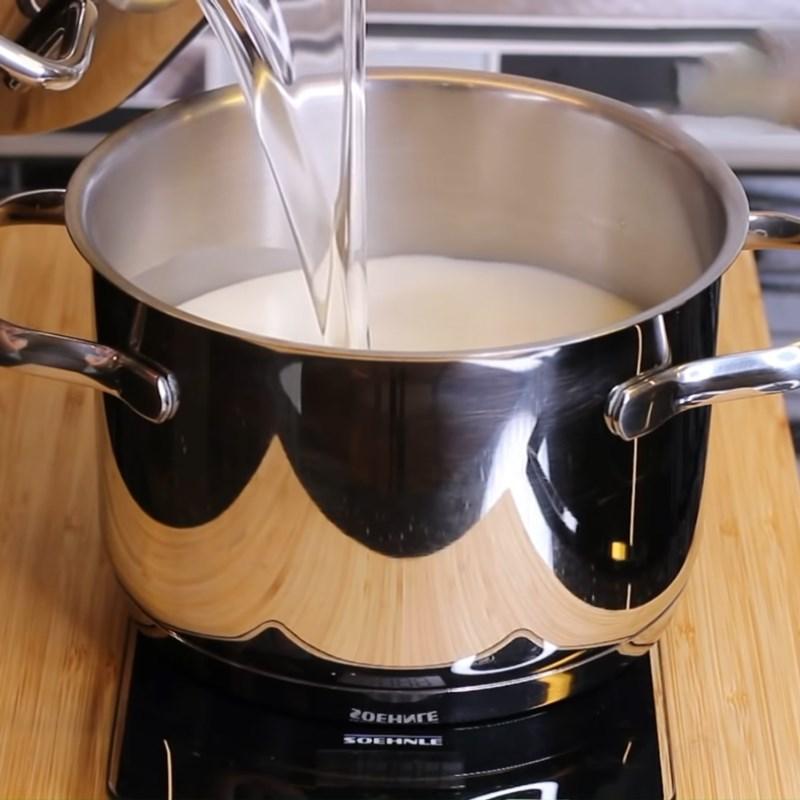 Bước 3 Nấu rau câu lá dứa, sữa dừa Rau câu lá dứa sữa dừa