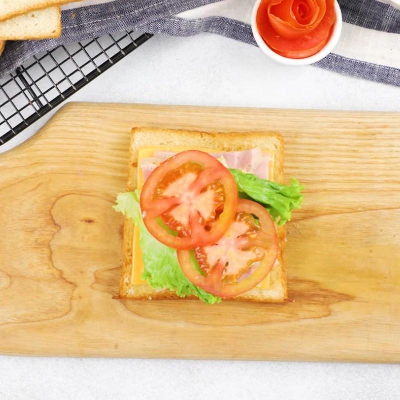 Bước 3 Nướng bánh Bánh mì sandwich phô mai