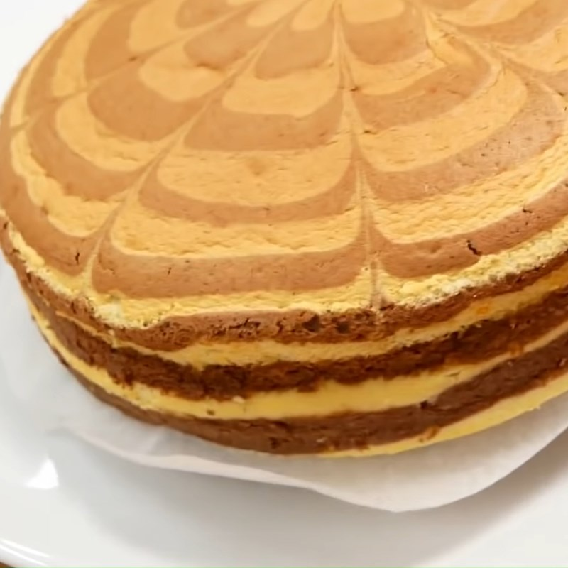 Bước 9 Nướng bánh Bánh bông lan ngựa vằn phô mai Nhật Bản