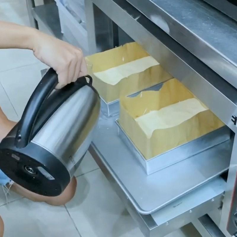 Bước 5 Nướng bánh Bánh bông lan phô mai sầu riêng