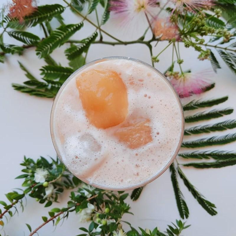 Bước 3 Pha trà sữa đào Trà sữa đào