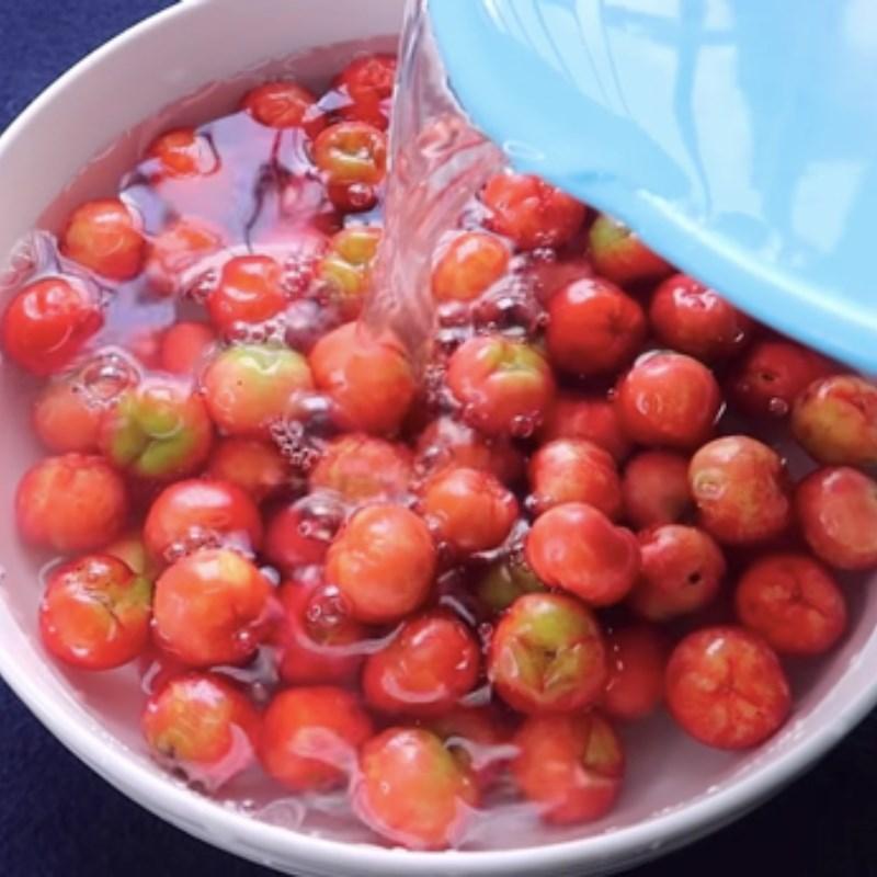 Bước 2 Sơ chế các nguyên liệu Nước ép sơ ri và bưởi