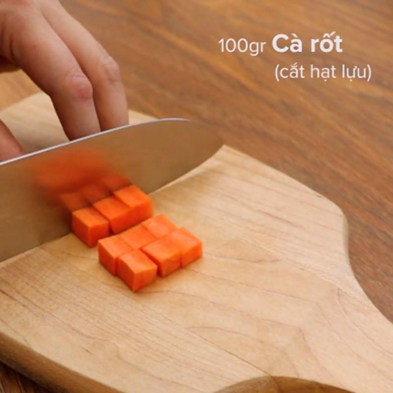 Bước 1 Sơ chế nguyên liệu Súp khoai lang rau củ