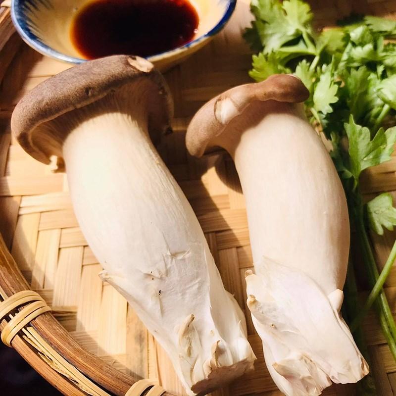 Bước 1 Sơ chế nguyên liệu Nấm đùi gà chiên