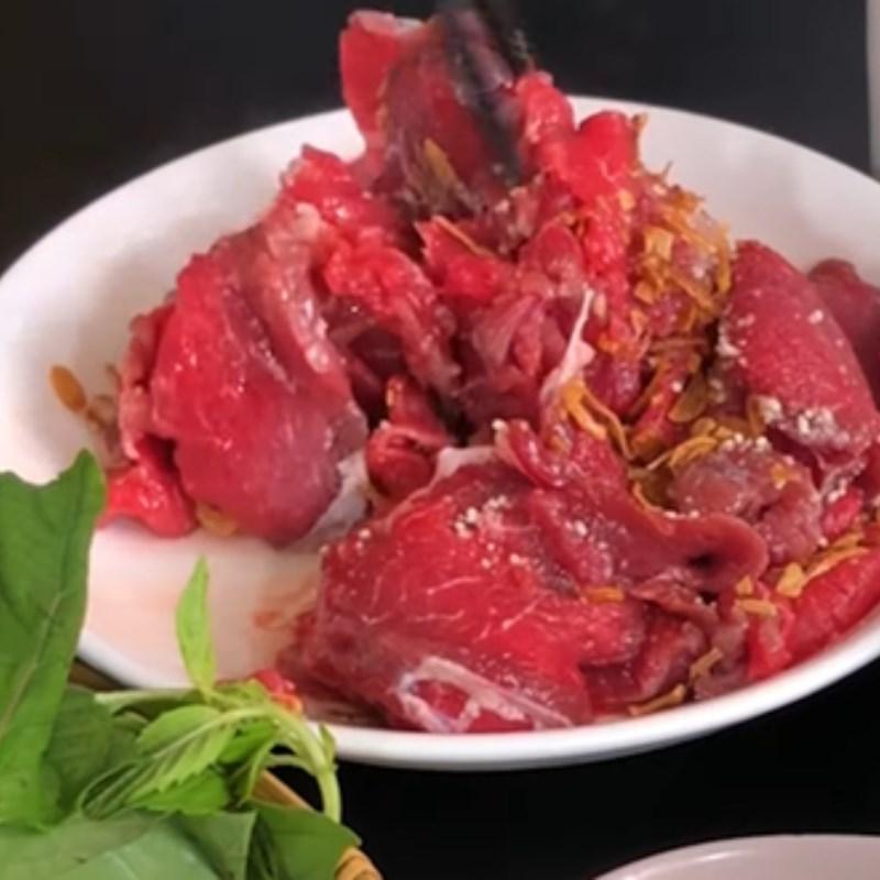 Bước 1 Sơ chế thịt bò Bò nhúng mẻ