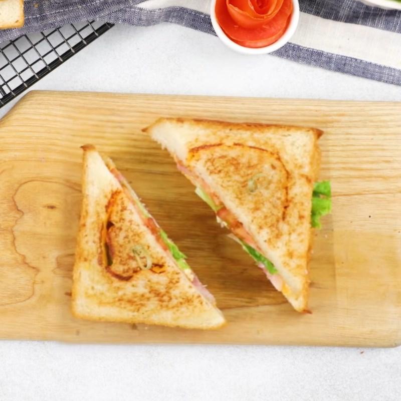 Bước 4 Thành phẩm Bánh mì sandwich phô mai