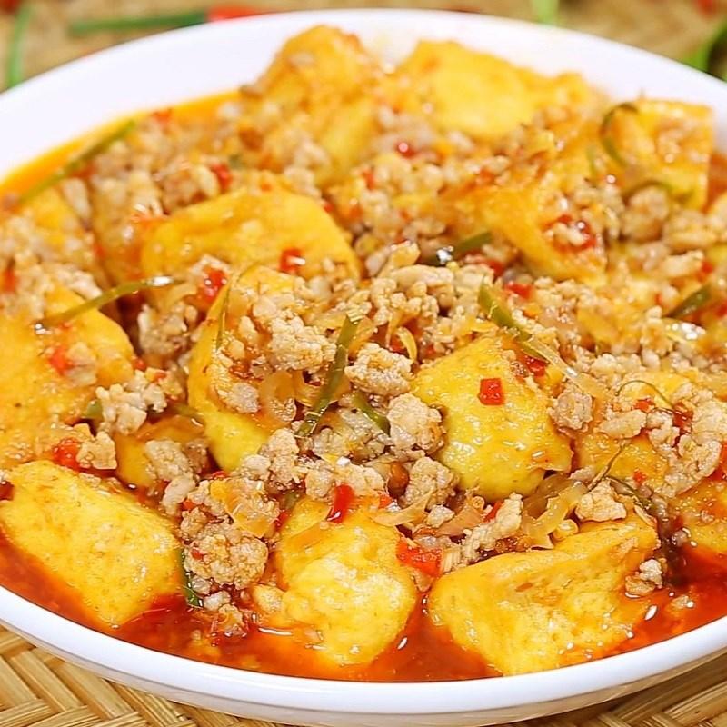Bước 6 Thành phẩm Đậu hũ sốt thịt bằm kiểu Thái