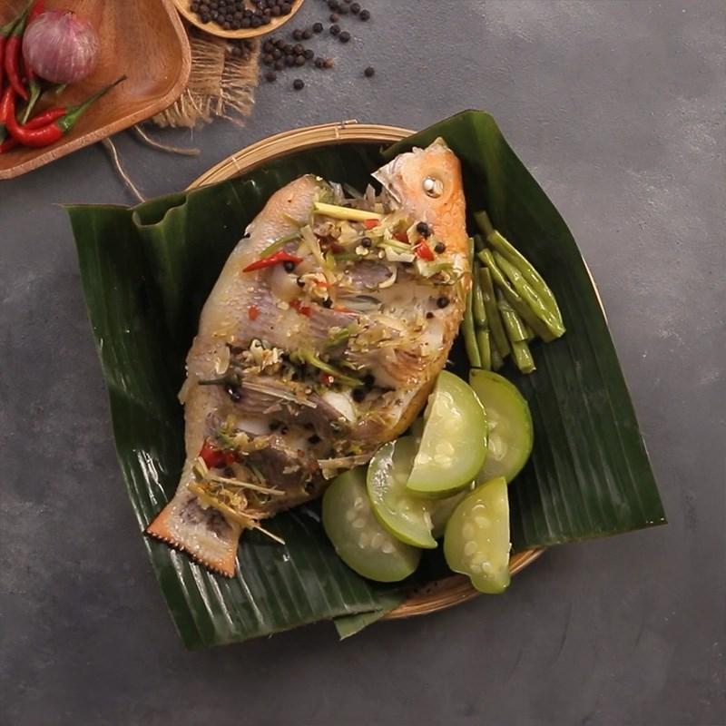 Bước 6 Thành phẩm Cá diêu hồng hấp kiểu Thái