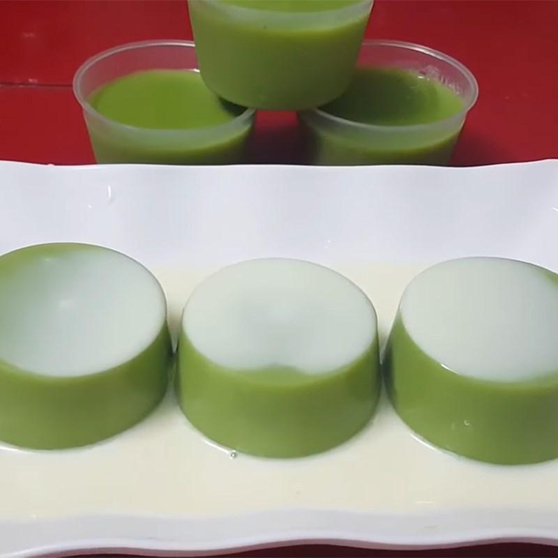 Bước 6 Thành phẩm Rau câu lá dứa sữa đậu nành