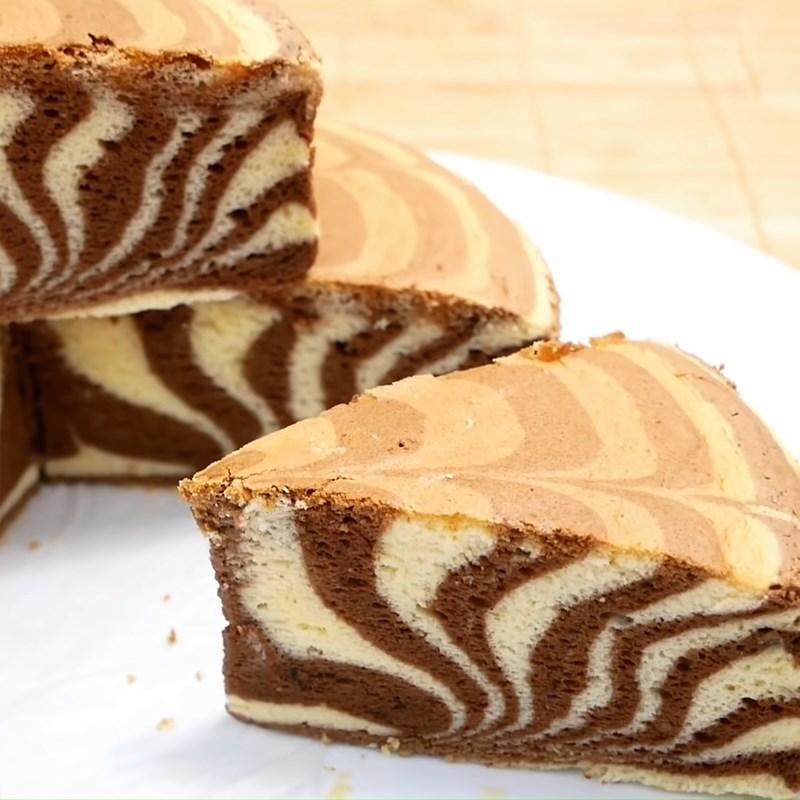 Bước 10 Thành phẩm Bánh bông lan ngựa vằn phô mai Nhật Bản