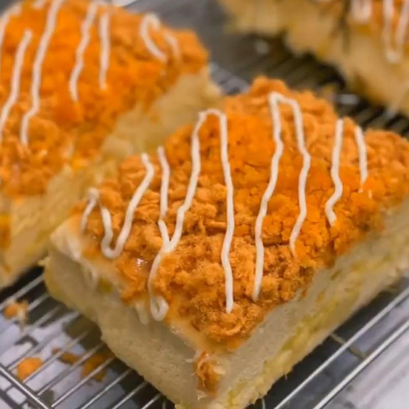 Bước 6 Thành phẩm Bánh bông lan phô mai sầu riêng