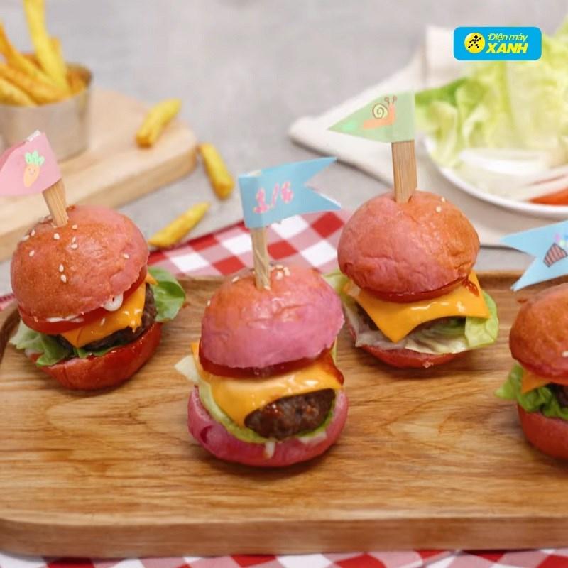 Bước 7 Thành phẩm Hamburger thanh long bò