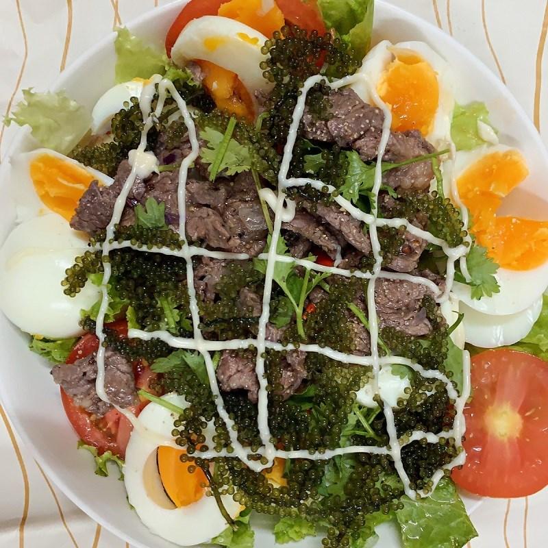 Bước 5 Thành phẩm Salad rong nho thịt bò