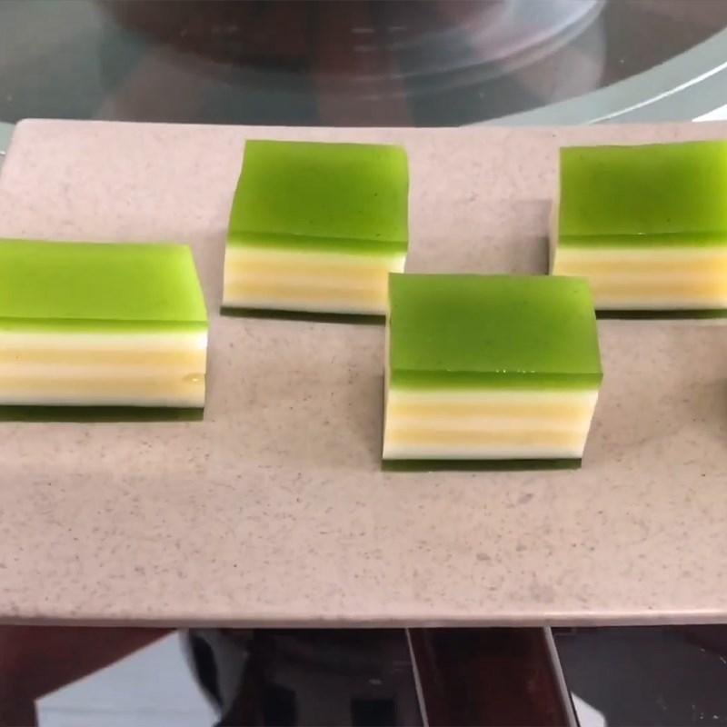 Bước 6 Thành phẩm Rau câu đậu xanh lá dứa