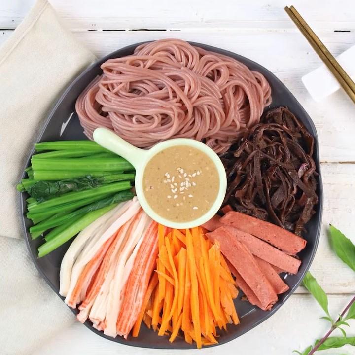 Bước 6 Thành phẩm Bún gạo lứt trộn rau củ thanh cua