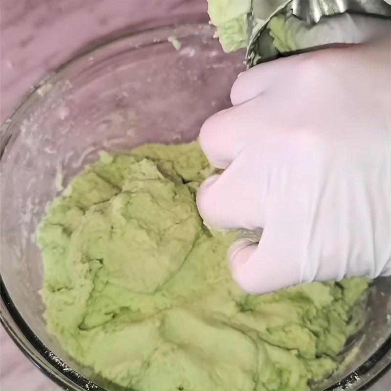 Bước 4 Trộn bột nếp Bánh quy nhân đậu xanh