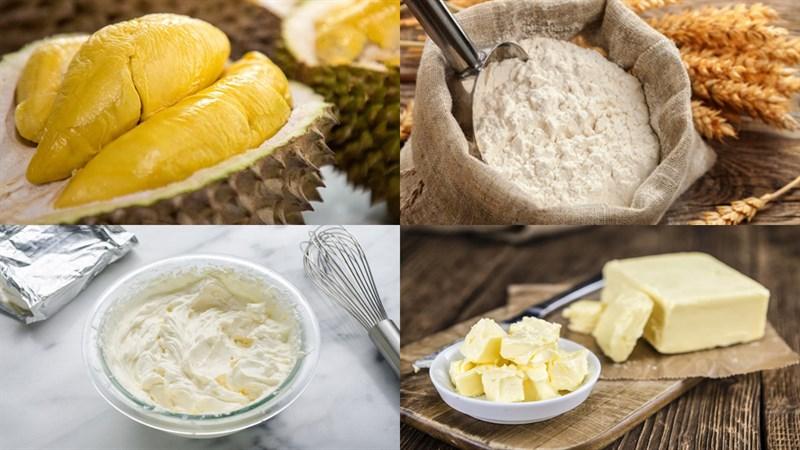 Nguyên liệu món ăn bánh tart sầu riêng