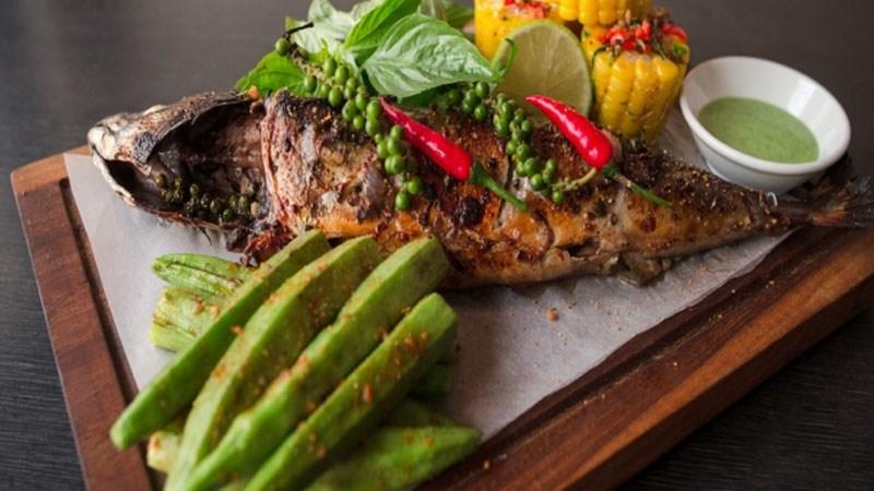 Cá saba nướng tiêu xanh