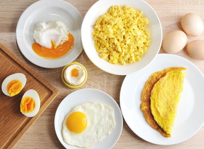 Trứng gà bao nhiêu calo theo cách chế biến?