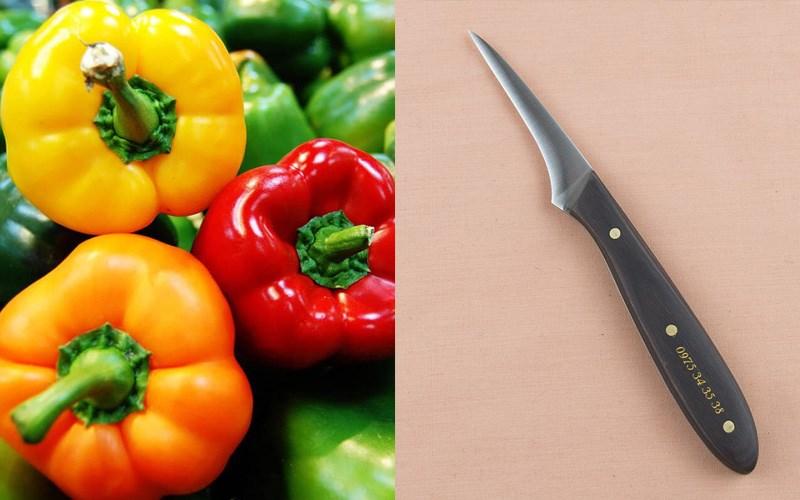 Nguyên liệu và dụng cụ cắt tỉa hoa súng cho ớt chuông
