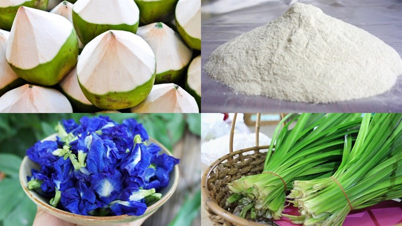 Nguyên liệu món ăn rau câu dừa