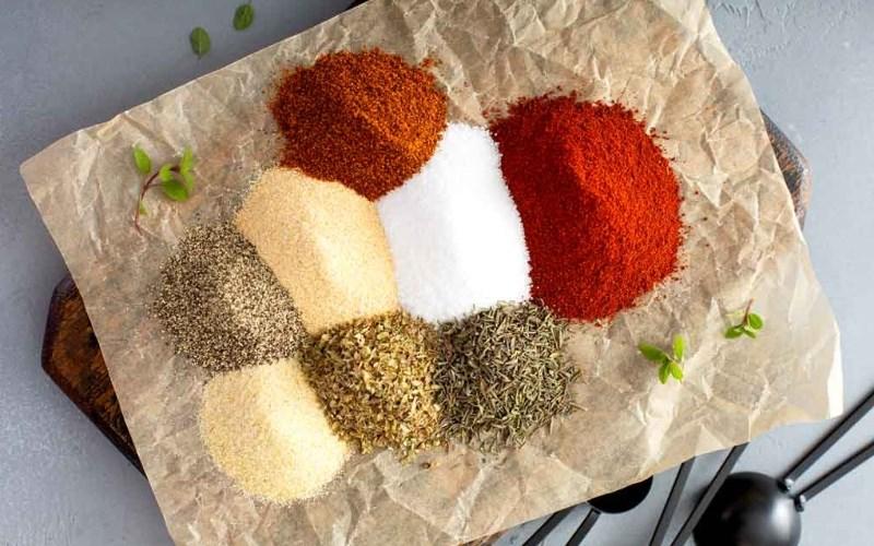 Nguyên liệu thực hiện cho bột cajun