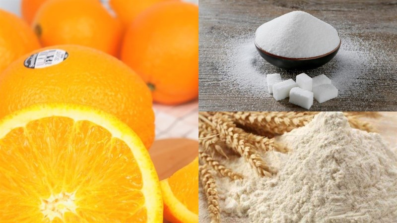 Nguyên liệu món ăn kem cam