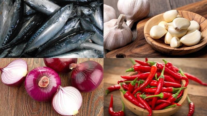 Nguyên liệu món ăn cá ồ nướng muối ớt, cá ồ nướng giấy bạc
