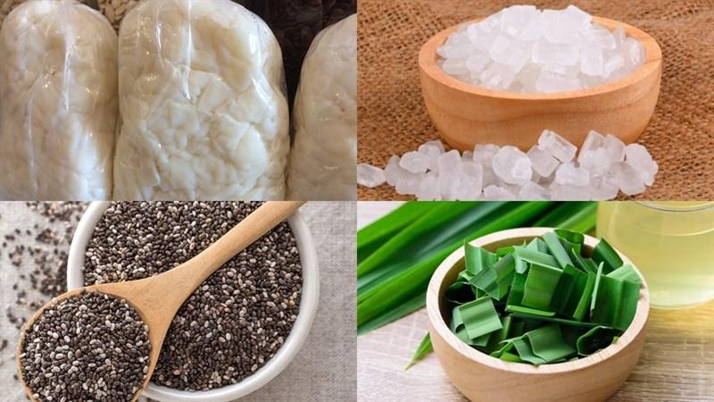 Nguyên liệu món ăn thạch dừa thô
