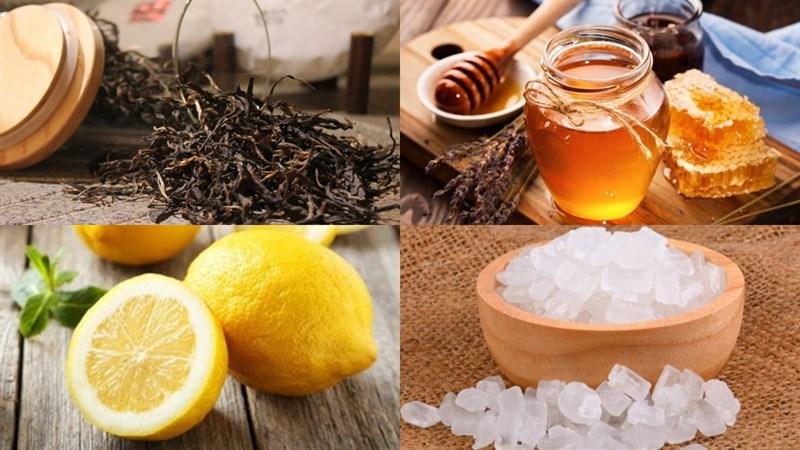 Nguyên liệu món ăn 2 cách pha trà chanh hong kong và trà chanh hoa đậu biếc
