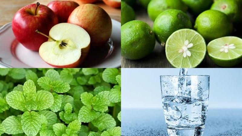 Nguyên liệu món ăn nước detox chanh và táo