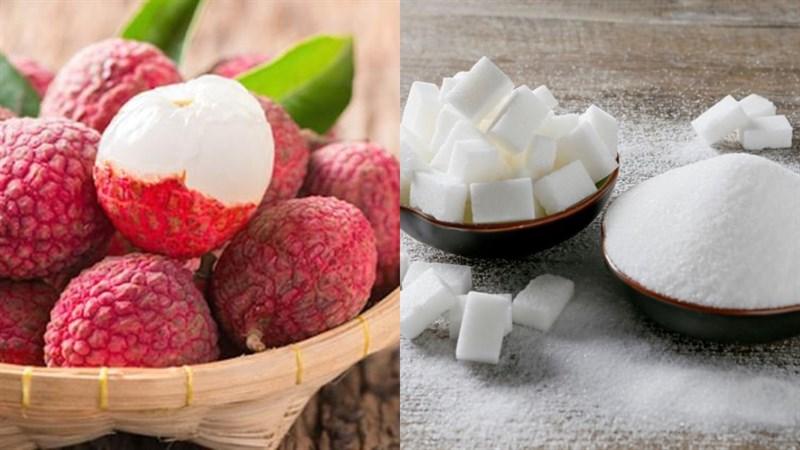 Nguyên liệu món ăn trái vải ngâm đường