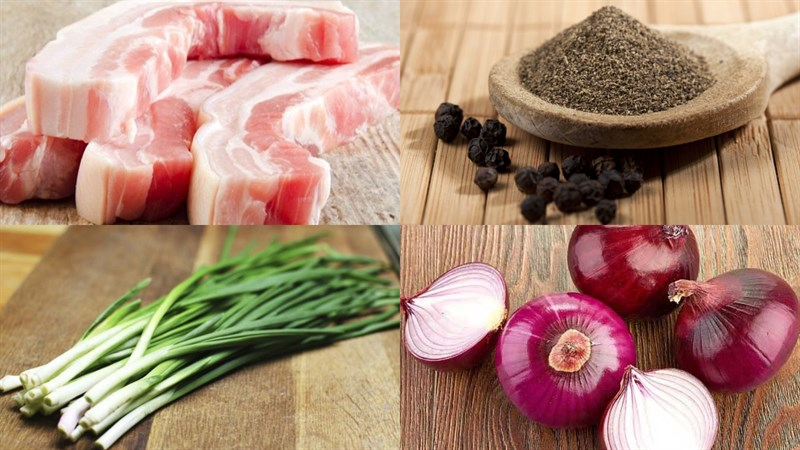 Nguyên liệu món ăn tóp mỡ kho quẹt, tóp mỡ kho tiêu