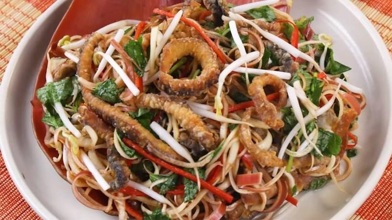 Gỏi bắp chuối lươn