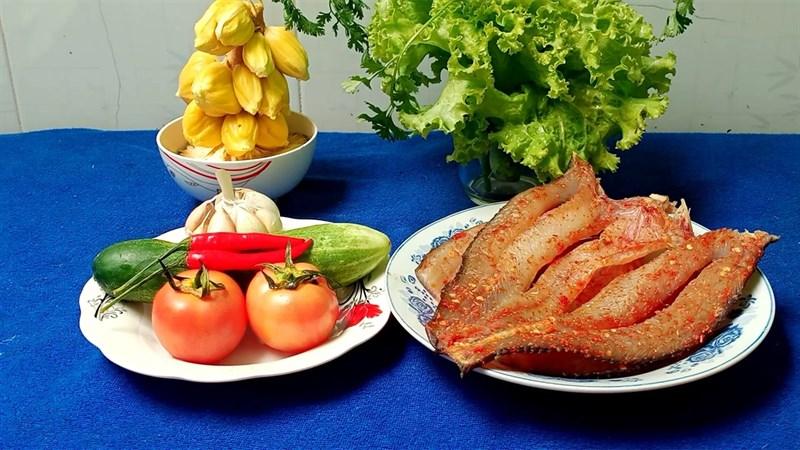 Nguyên liệu món ăn khô cá lóc sốt me và sốt bơ tỏi