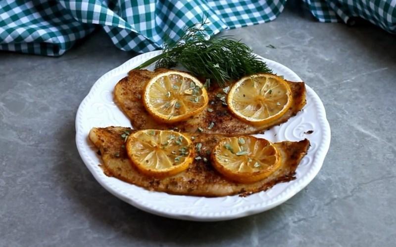 Phi lê cá basa nướng bơ chanh