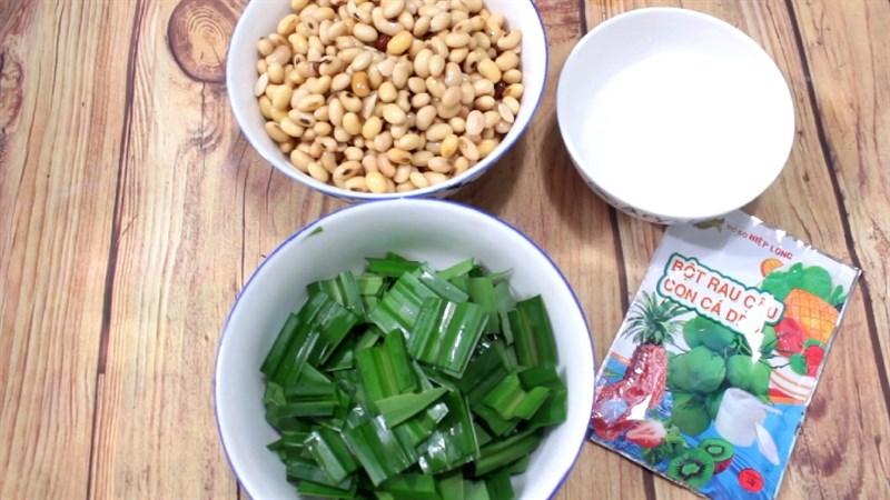 Nguyên liệu món ăn rau câu đậu nành