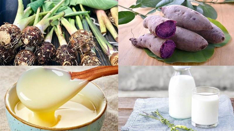 Nguyên liệu món ăn sinh tố khoai môn