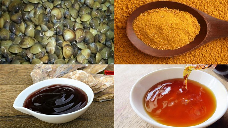 Nguyên liệu món ăn 2 cách làm hến xào sa tế và cà ri