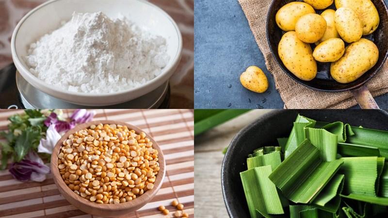 Nguyên liệu món ăn bánh quy nhân đậu xanh